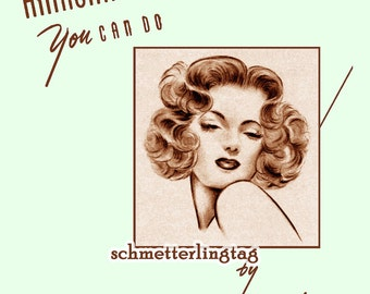 1940s Hairstyles Book Swing Era Illustrated Glamorous Hairstyle WWII Beautician