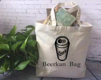 lustige Leinwand Einkaufstasche/Bierdose Tasche / Beutel Beerkan / ausgefallene Tasche-Gag-Geschenk