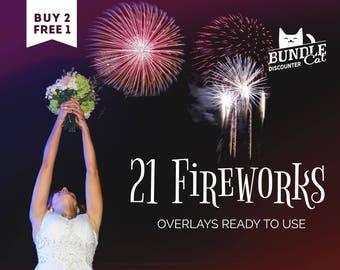 21 Firework Photo Overlays. Fireworks Photoshop overlays, Wedding overlay, Fireworks clipart, Fireworks overlay, Firework overlays
