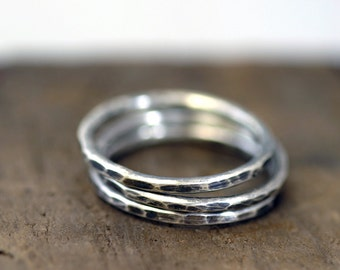Hammered Stacking rings (E0197)
