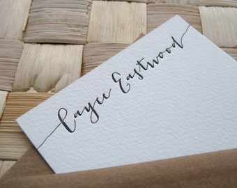 Custom Letterpress Note Cards, Calligraphy, Personalized Stationery, Personalized Note Cards, Custom Stationery