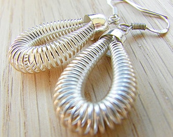 Silver earrings Christmas earrings Xmas earrings holiday earrings light weight earrings spring earrings dangle earrings drop earrings