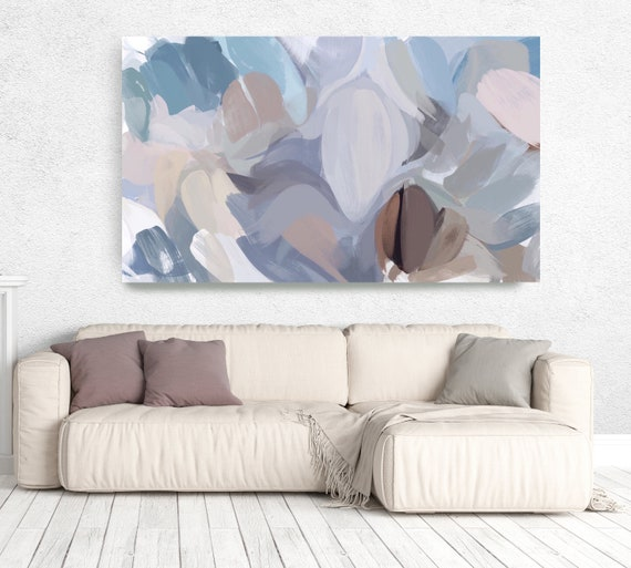 """The Color Movement 19, Original abstract painting blue large Abstract, Blue brown white Abstract, blue Painting 80"""" by Irena Orlov"""