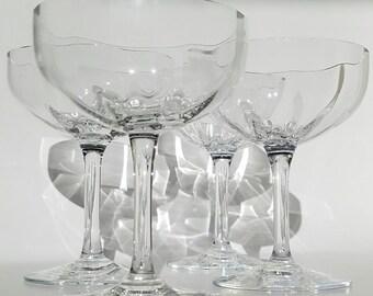 Fine Crystal Champange Glasses ( Set Of Four)