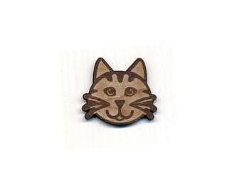 Kitty Cat Laser Cut Lapel Pin