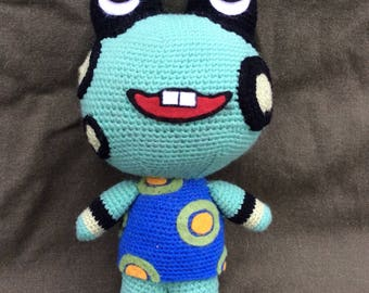 Frobert animal crossing crochet plush