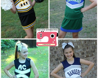 Victory Cheerleading Uniform PDF Sewing Pattern Sizes 1/2- 16