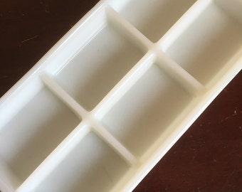 Dentist's Milk Glass Instrument Tray. Medical / Dental Tool.
