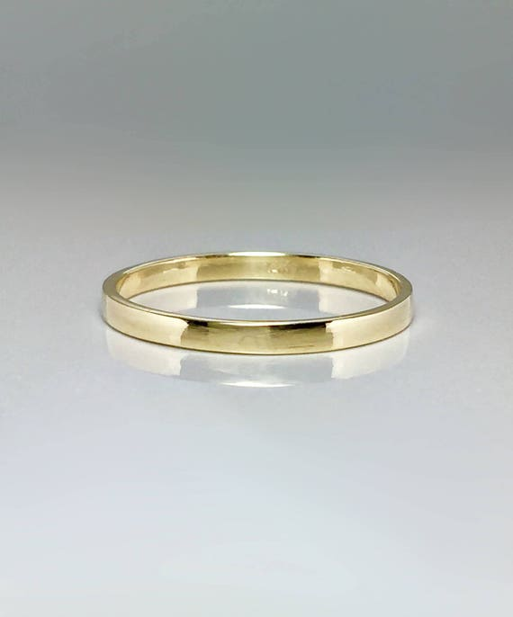 SALE 14k 10k solid gold La s Gold rings stacking rings
