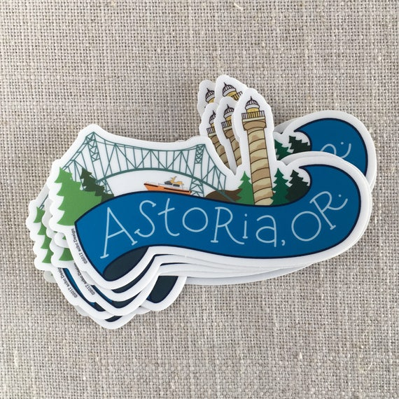 Astoria oregon vinyl sticker oregon coast sticker astoria