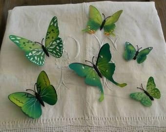 Flight of butterflies 3D / Green / decals