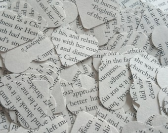 Wuthering Heights Classic Book Confetti 250 Paper Hearts Wedding / Birthday / Book Party Table Decoration Party Favour / Stocking Filler