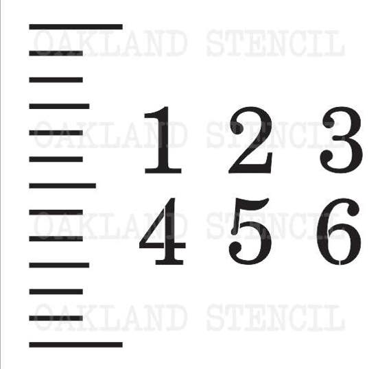 Stencils For A Growth Chart Ruler Ticks And