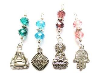 4 theme Buddha silver metal beads pendants charms