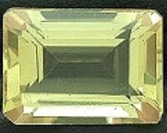14x10 emerald cut citrine gem stone gemstone natural