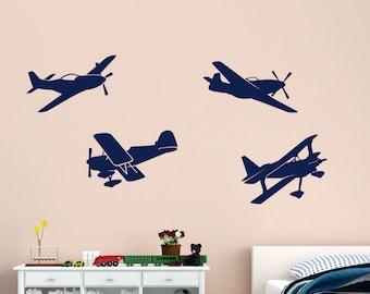 airplane decals, Planes Vinyl Wall Decals, Planes Decals, Kids Room Plane Decals, Kids Room Decals, Airplane, Kids