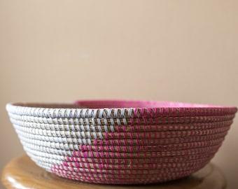 Handmade round basket