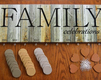 Rustic Wood Look Family Celebrations Birthday Board Kit FBRCK