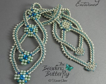 Entwined Bracelet Tutorial - Layered Right Angle Weave and Faux CRAW