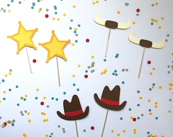 Western Cupcake Toppers; Cowboy