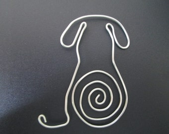 Wire Dog Bookmark