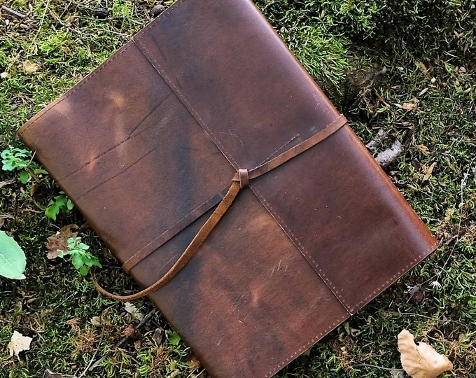 Leather Refillable Composition Notebook Cover