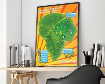 Map of jurassic park etsy jurassic park island map gumiabroncs Image collections