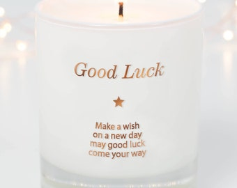 Good Luck Candle, Good Luck Gift Idea, Good Luck Exams, Best Wishes Gift, Moving Out, Make A Wish For Good Luck, Candle, Scented Candles
