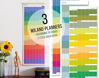 VALUE PACK + + + Wall Planner 2018 Planner 2018 Calendar Wall Planner 2018 rainbow colours Wall decoration Poster Color Pastell 2018