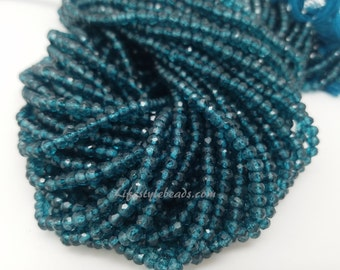4mm London Blue Topaz Coated, 13 Inch
