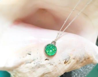 Mermaid Green Druzy Necklace