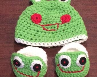 geh kelte frosch diaper cover set frosch hut f r baby frosch. Black Bedroom Furniture Sets. Home Design Ideas