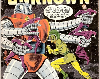 Challengers of the Unknown 12, Sci-fi gift, Scifi comic art, Outer Space book. 1960 DC Comics in VG/FN (5.0)