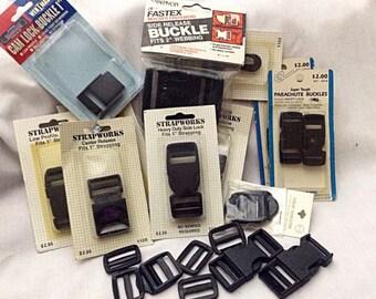 Black Buckle Assortment - 26 pieces
