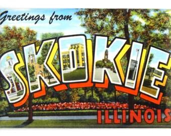 Greetings from Skokie Illinois Fridge Magnet