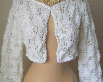 LIQUIDATION Stock 30% OFF Women Cotton Shrug Bolero Wedding Bridal Accessories Cape Hand Knitted Crochet Jacket Cardigan Capelet Gift Ideas