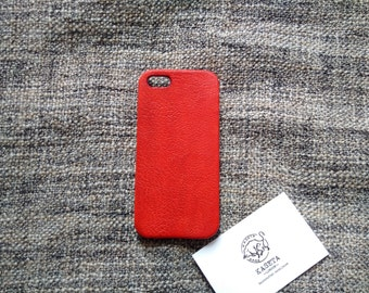 iPhone SE Leather, iPhone 5s Leather, iPhone SE case, iPhone 5s 5 'Red'