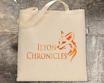 Ilyon Chronicles Orange Fox Canvas Tote Bag - Book Bag