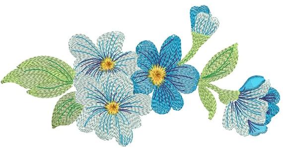 Bouquet de motif de broderie de fleurs sauvages - Bouquet de fleurs sauvages ...