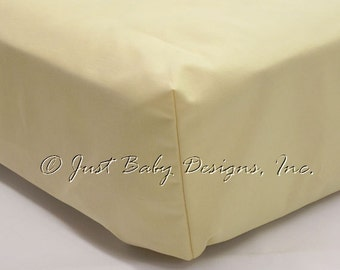 Fitted Crib Sheet - Butter Yellow Solid Cotton