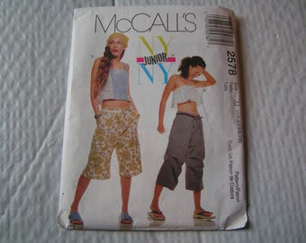 McCalls Pattern 2578 NY Junior Top and Wrap Skirt