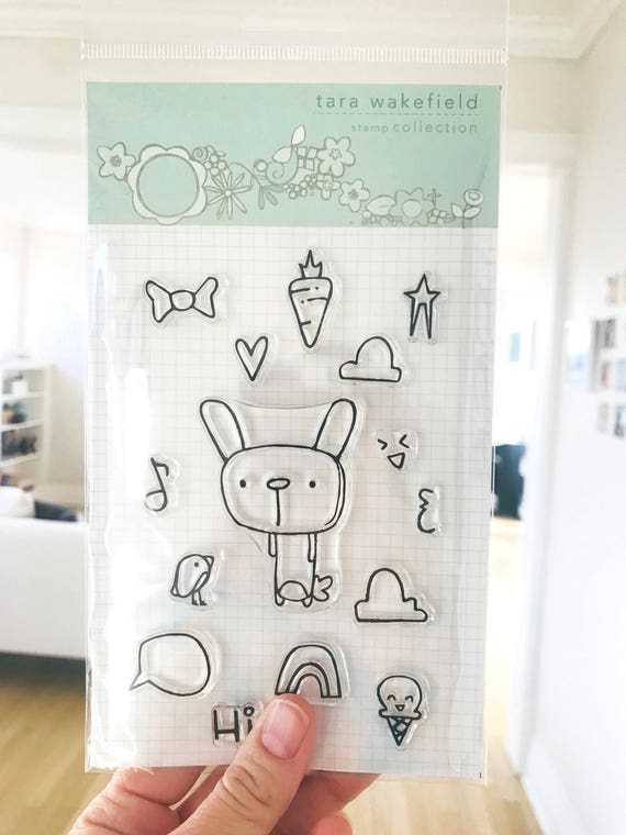 Bunny Cheer // clear stamp set // paper crafting // card making // craft // stamps