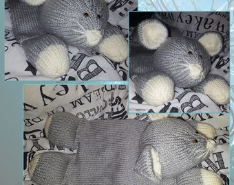 Hand knitted Mouse Pyjama Case