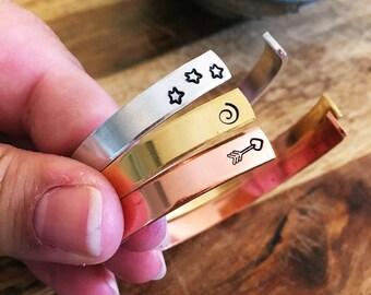 Hand-Stamped Bangle Bracelets