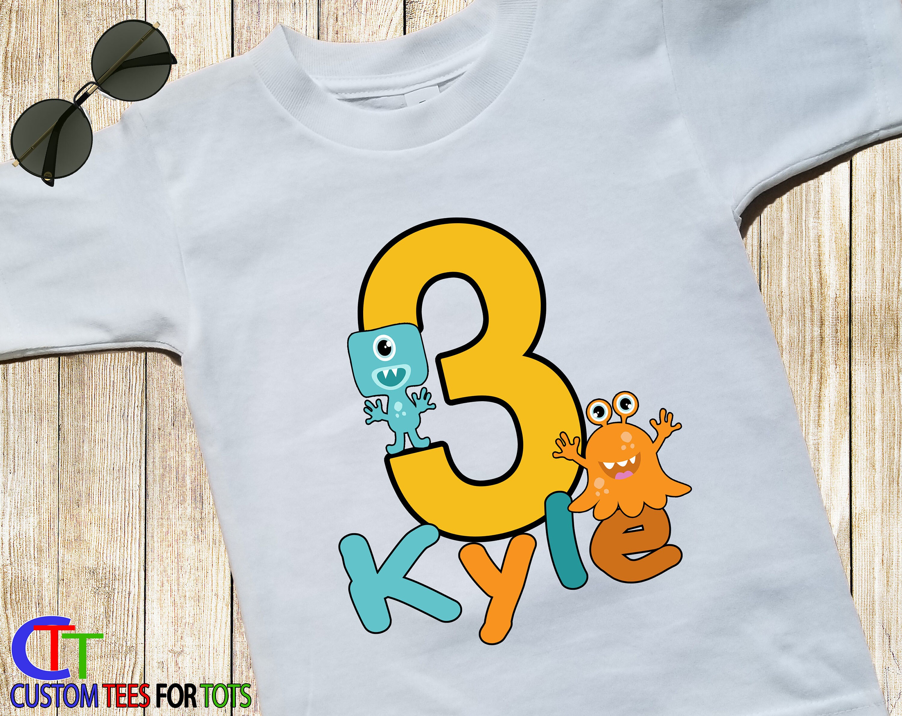 Big Number LITTLE MONSTER BOY Birthday T Shirt Cute Scary