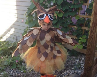 Made to order! Complete Owl costume, original design, lots of detail and you or your child will be a stand out in this costume!
