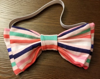 Candy stripes bow