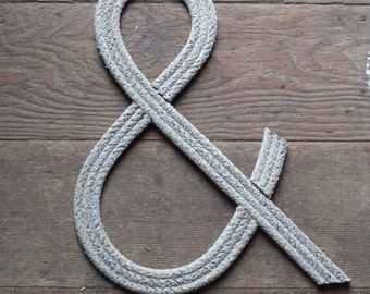 AMPERSAND 12 inch Rope Text Rope Character Letter Number &