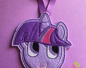 Purple Pony Hanging Hair Clip/Bow Holder
