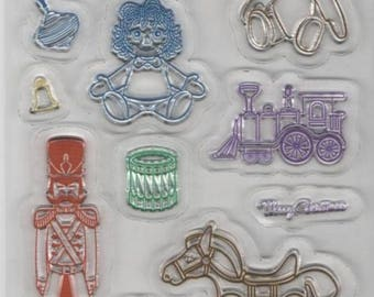 Clear stamp toys 30 mm for decoration